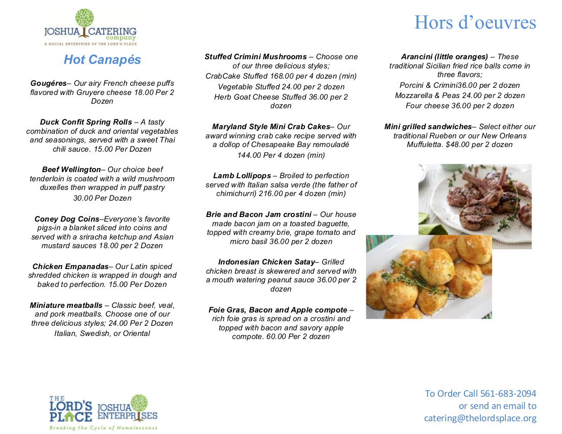 Hors doeurves menu the lords place to download a pdf version of this menu to print click here forumfinder Image collections